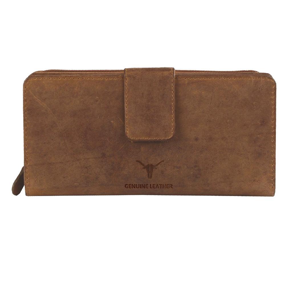 Hidekraft   Genuine Leather  women's Wallet, LDTNPU0514, Tan