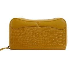 Hidekraft   Genuine Leather  women's Wallet, LDMYDU0515, Yellow