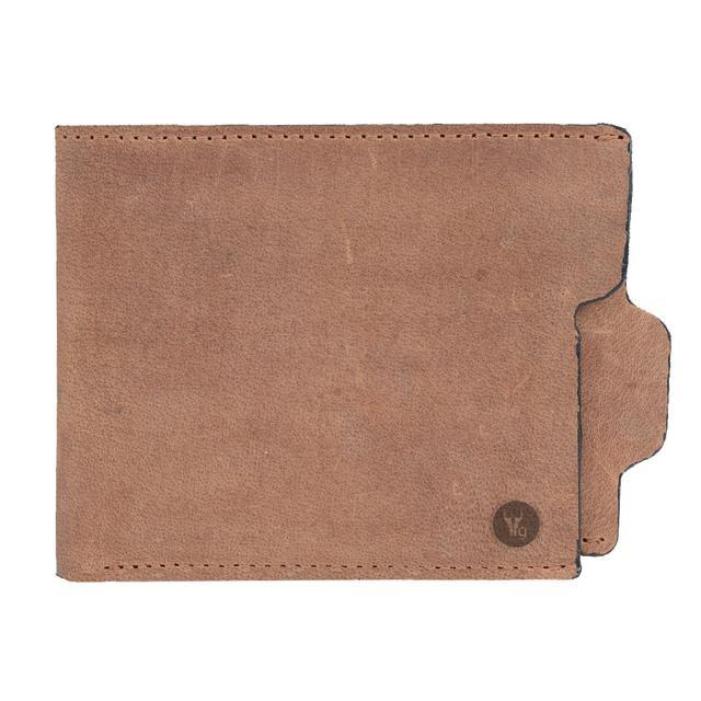 Hidegear Men's Vintage Leather Wallet,WLTNPU0416H Brown