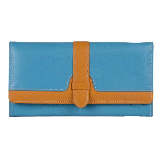 Hidekraft women's Leather Wallet ,LDTY0505D Teal