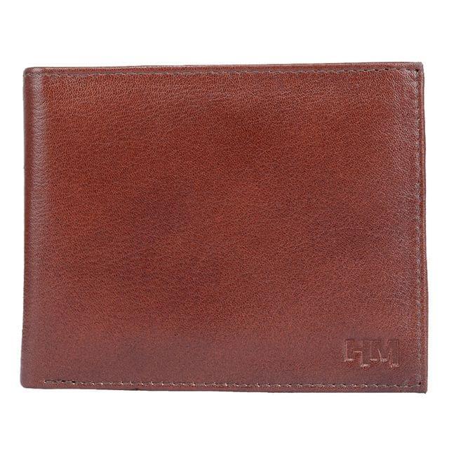 Hidemaxx Men's Leather Wallet ,WLBRPU0122X Brown