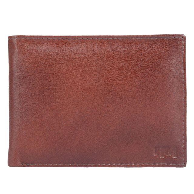 Hidemaxx Men's Leather Wallet ,WLBRPU0123X Brown
