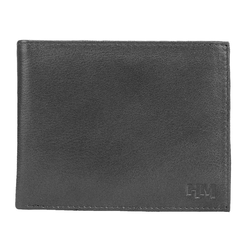 Hidemaxx Men's Leather Wallet ,WLBLPU0122X Black