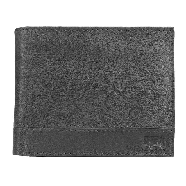 Hidemaxx Men Leather Wallet ,WLBLPU0110X Black