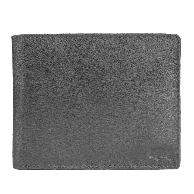Hidemaxx Men's Leather Wallet ,WLBLPU0112X Black