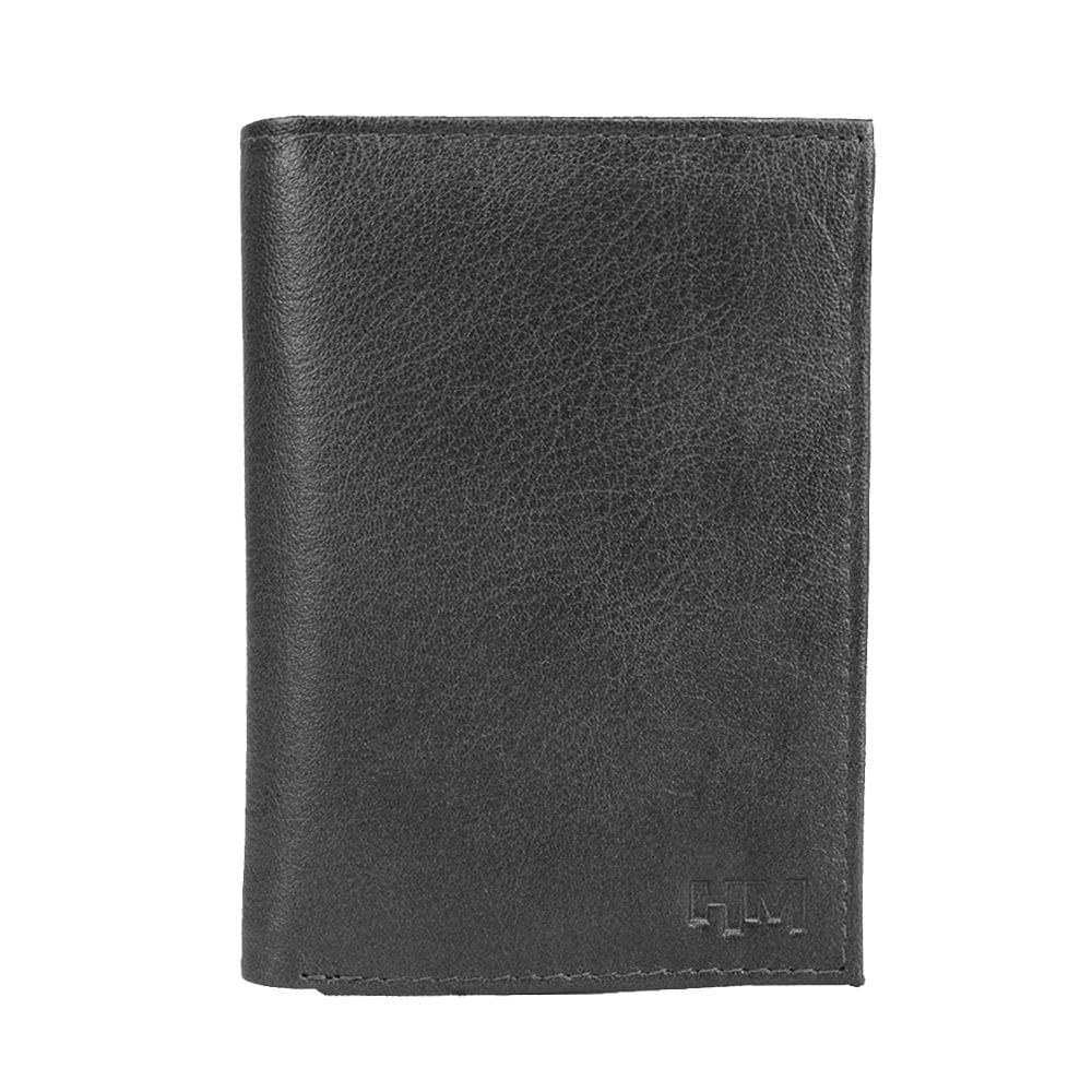 Hidemaxx Men Leather Trifold Wallet ,TRBLPU0116X Black