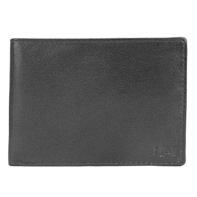 Hidemaxx Men's Leather Wallet ,WLBLPU0120X Black