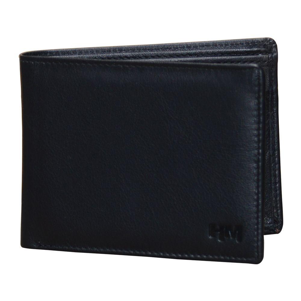 Hidemaxx Men's Leather Wallet ,WLBLPU0114X Black