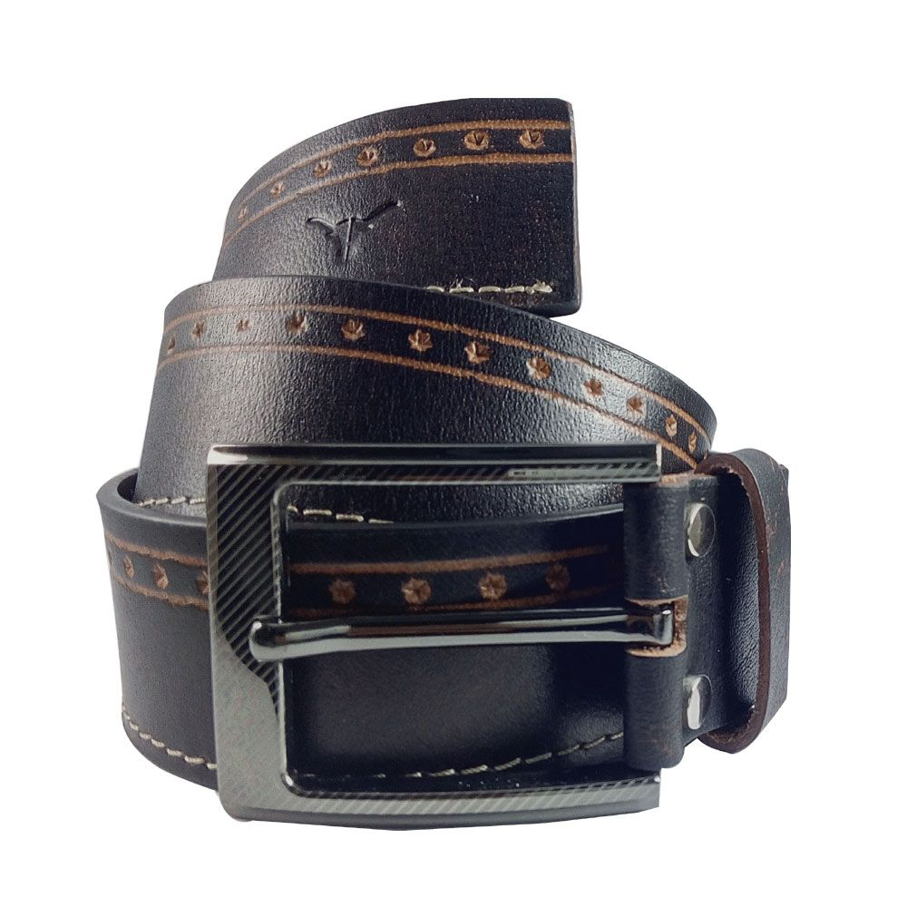 Hidekraft Genuine Leather Mens Casual Belt, BTMCAS0102 Brown