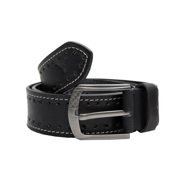 Hidekraft Genuine Leather Mens Casual Belt,BTMCAS0106 Black