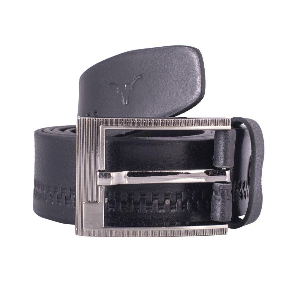 Hidekraft Genuine Leather Mens Casual Belt, BTMCAS0109 Black
