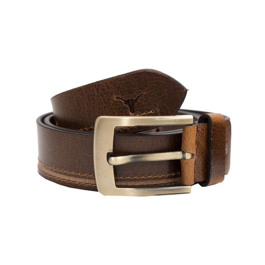 Hidekraft Genuine Leather Mens Casual Belt, BTMCAS0111 Brown
