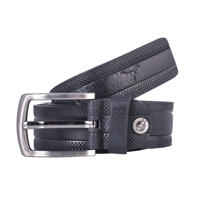 Hidekraft Genuine Leather Mens Casual Belt, BTMCAS0112 Black