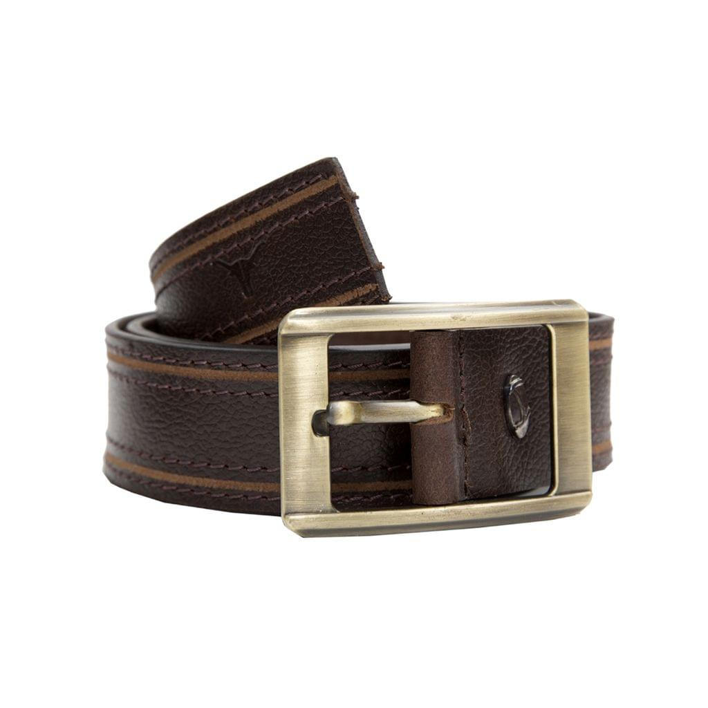Hidekraft Genuine Leather Mens Casual Belt, BTMCAS0113 Brown