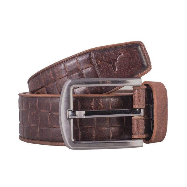 Hidekraft Genuine Leather Mens Casual Belt, BTMCAS0114 Brown