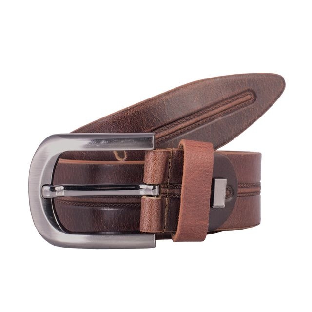 Hidekraft Genuine Leather Mens Casual Belt, BTMCAS0103 Brown