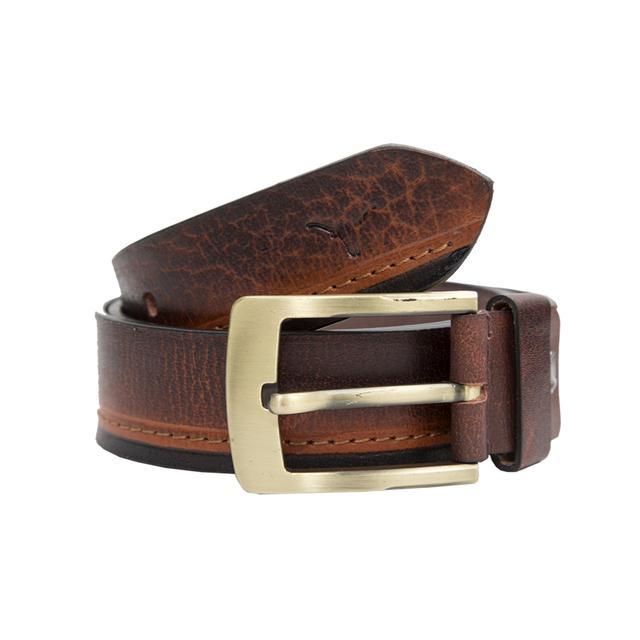 Hidekraft Genuine Leather Mens Casual Belt, BTMCAS0115 Brown