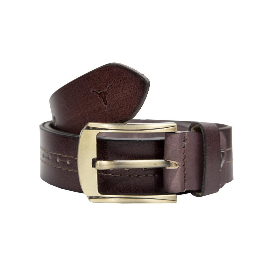 Hidekraft Genuine Leather Mens Casual Belt, BTMCAS0116 Brown