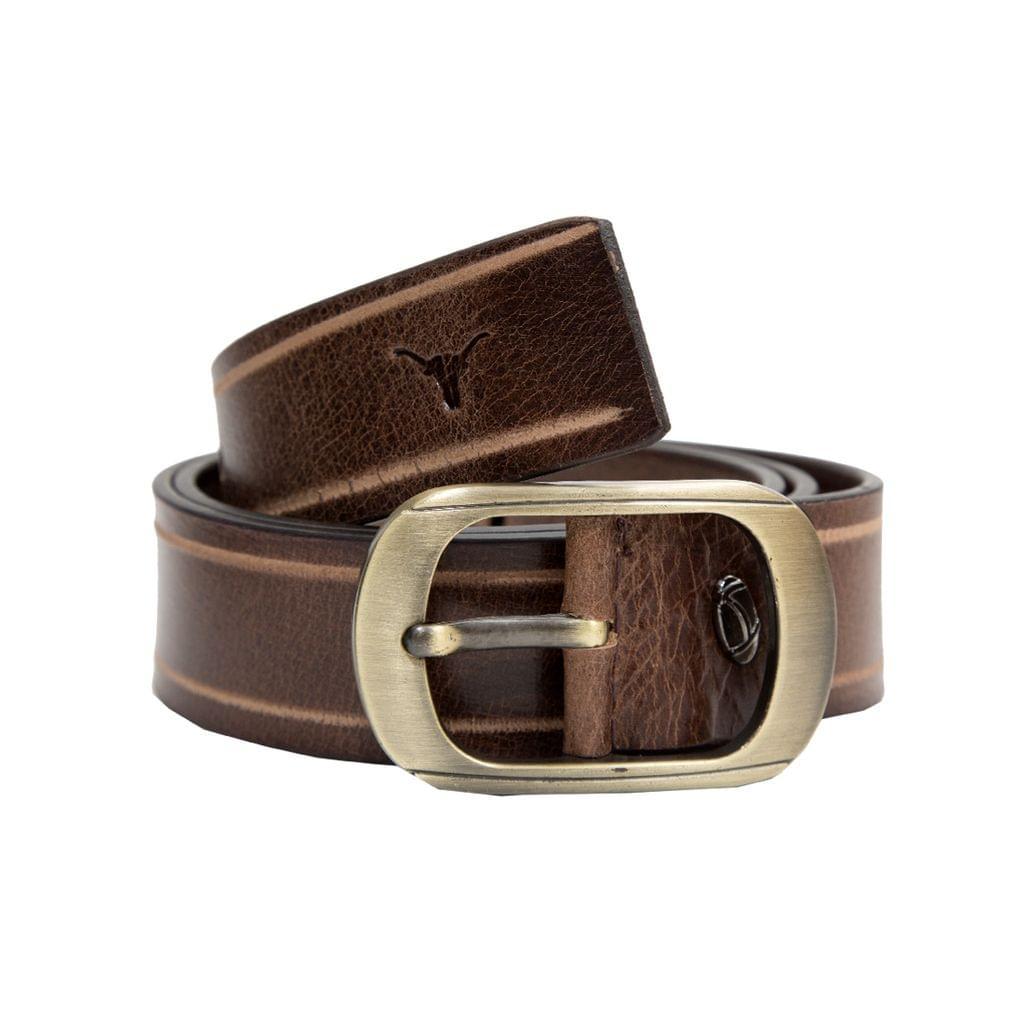Hidekraft Genuine Leather Mens Casual Belt, BTMCAS0117 Brown