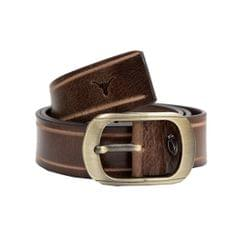 Hidekraft Genuine Leather Mens Casual Belt, BTMCAS0117 Brown