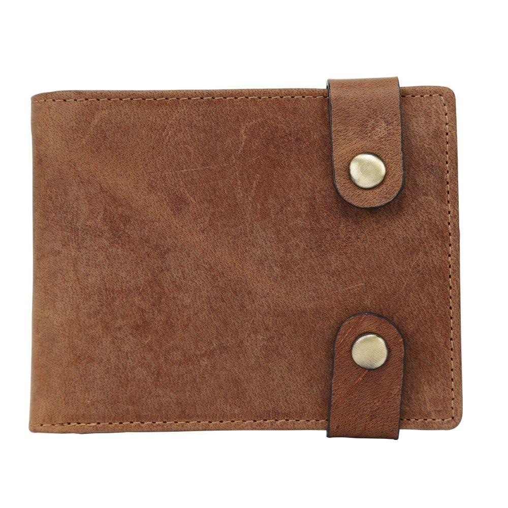 Hidegear Men's Vintage Leather Wallet, WLTNPU2012H Tan