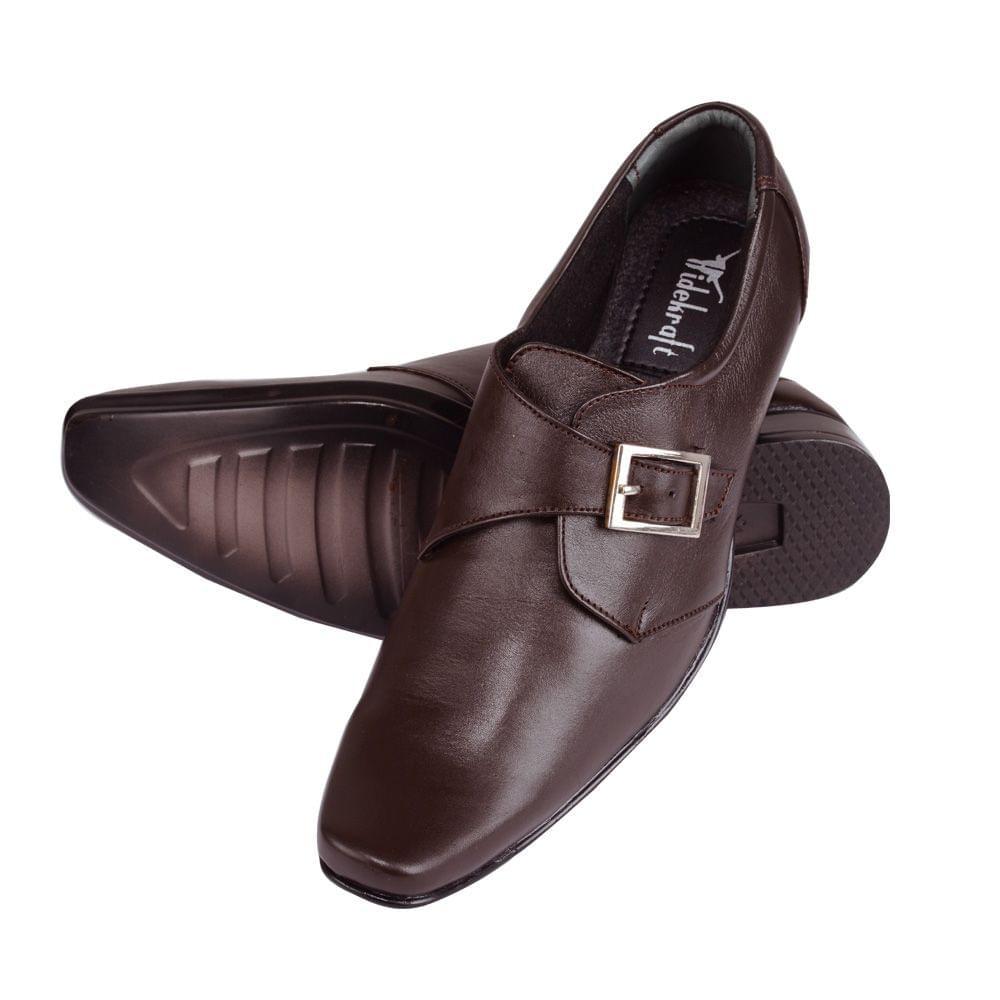 Hidekraft Genuine Leather Mens Formal Shoes,HKMSBR0008 Brown