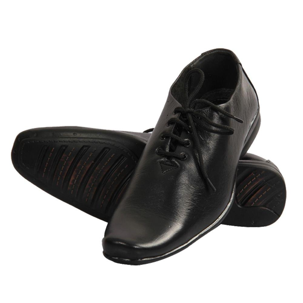 Hidekraft Genuine Leather Mens Formal Shoes,HKMSBL0015 Black