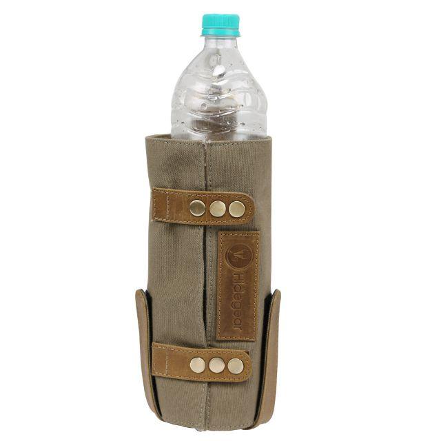 Hidegear Leather-Canvas Bottle Holder, HGOLBH0243 Olive