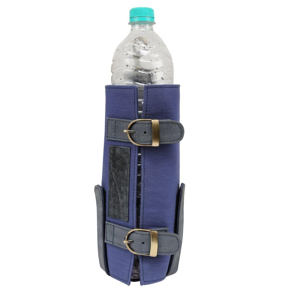 Hidegear Leather-Canvas Bottle Holder, HGMBBH0242 Medieval Blue
