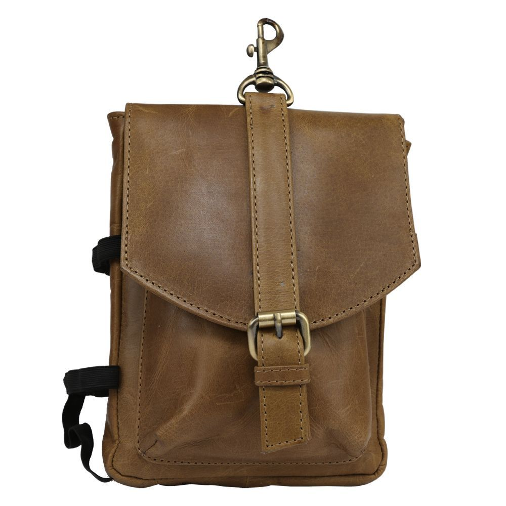 Hidegear Leather Travelling Pouch/Hip Bag ,HGOLTP0235 Olive