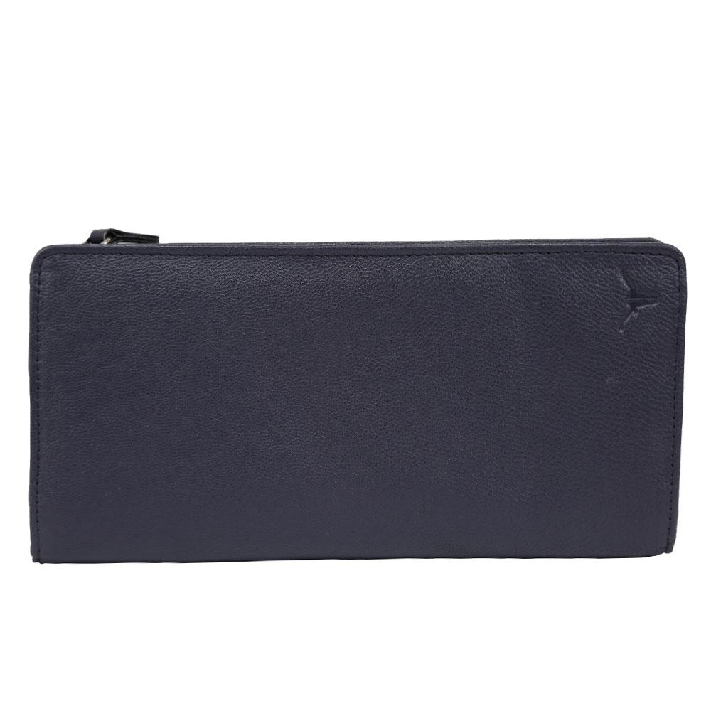 Hidekraft Genuine Leather  Women's Wallet, LDINPU0426 Indigo