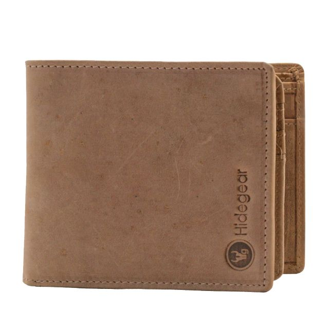 Hidegear Men's Vintage Leather Wallet, WLTNDU2010H Tan