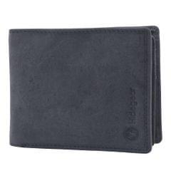 Hidegear Men's Vintage Leather Wallet, WLGYDU2010H Grey