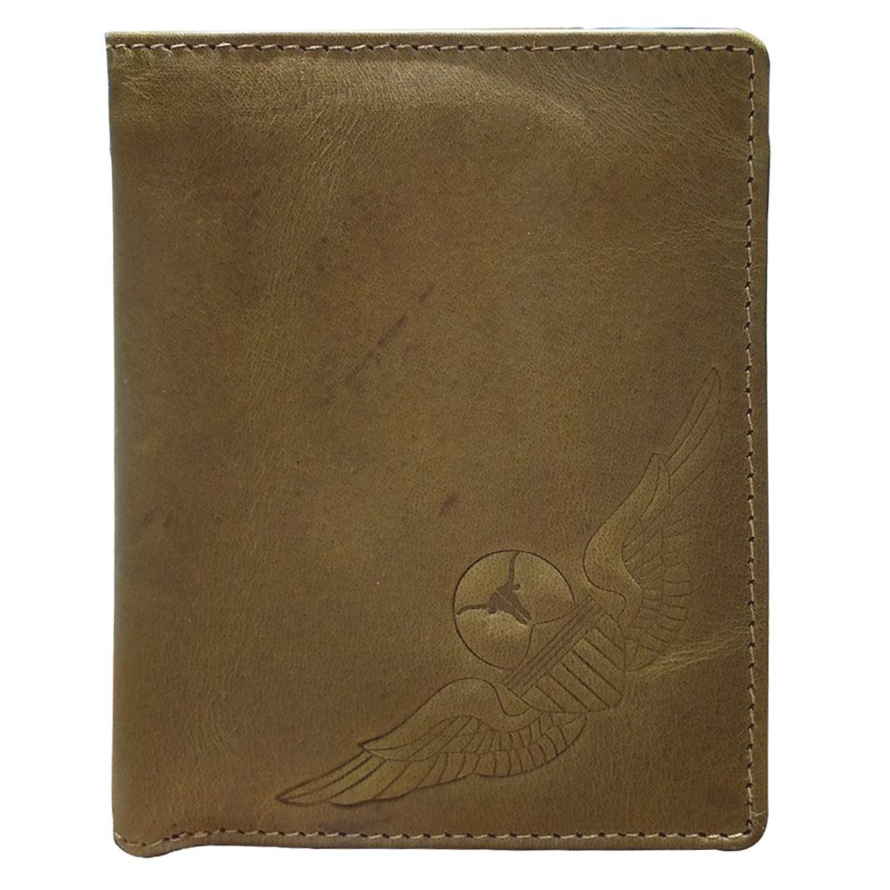 Hidegear Men's Vintage Leather Wallet, WLOLDU2018H Olive