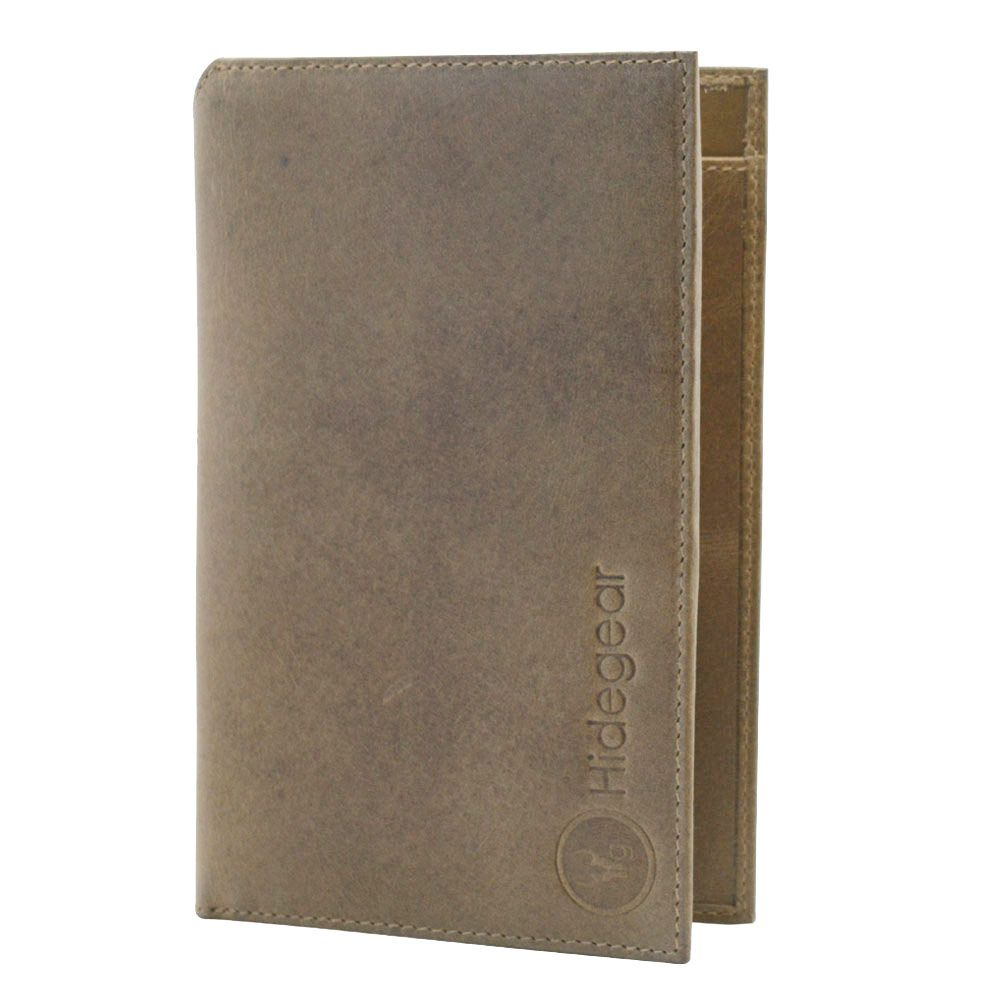 Hidegear Men's Vintage Leather  Travel Wallet, WLOLDU2001H Olive