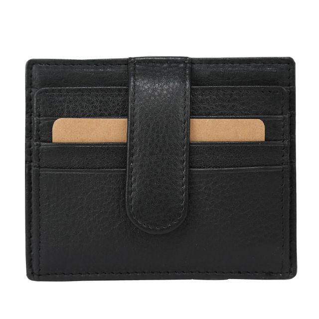 Hidegear Leather Card Holder,CHBLPU2006H Black