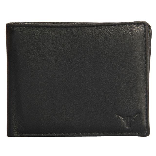 Hidekraft Men's Leather Wallet ,WLBLPU0374 Black