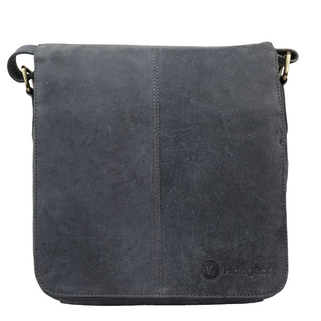 Hidegear Leather Messenger Bag ,MBMBGY0008D Grey