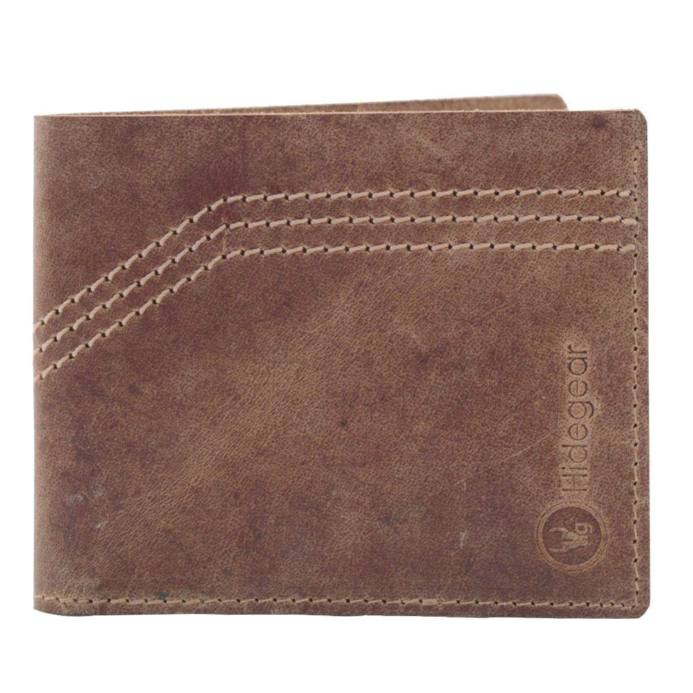Hidegear Men's Vintage Leather Slim Wallet,WLTNDU2005H Brown