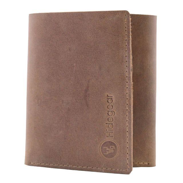 Hidegear Men's Vintage Leather Slim Wallet,WLTNDU2004H Brown
