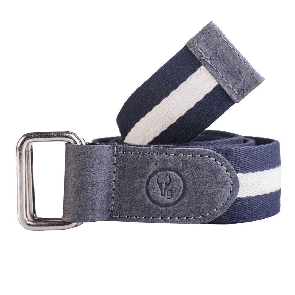 Hidegear Canvas-Leather Belt ,BTCTNV0103H Navy