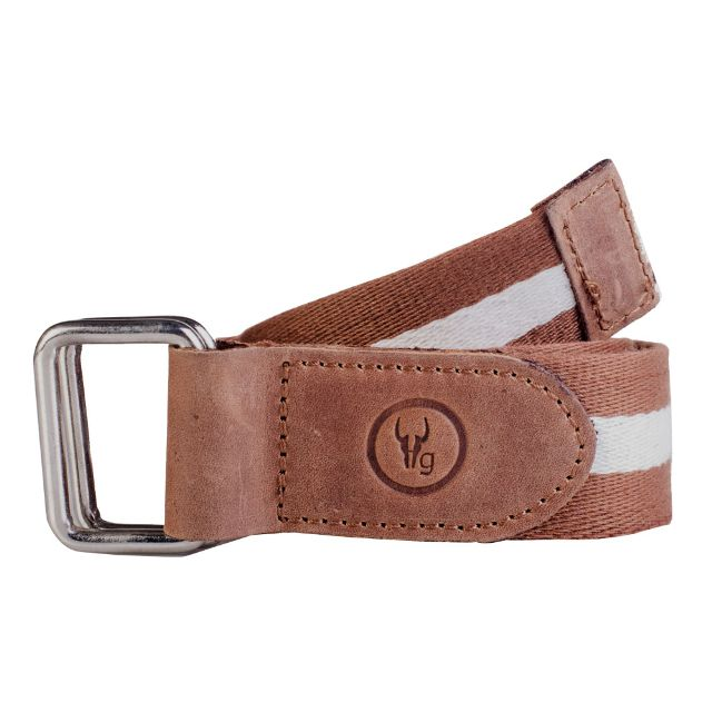Hidegear Canvas-Leather Belt ,BTCTTN0106H Tan