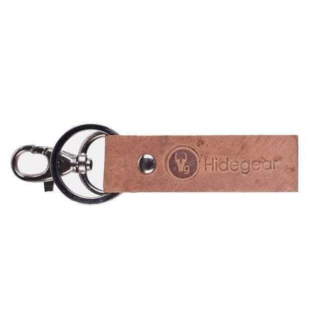 Hidegear Genuine Leather Keychain, HGKYTN0002H Tan