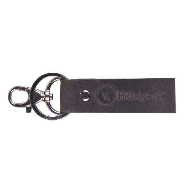 Hidegear Genuine Leather Keychain, HGKYBR0004H Brown