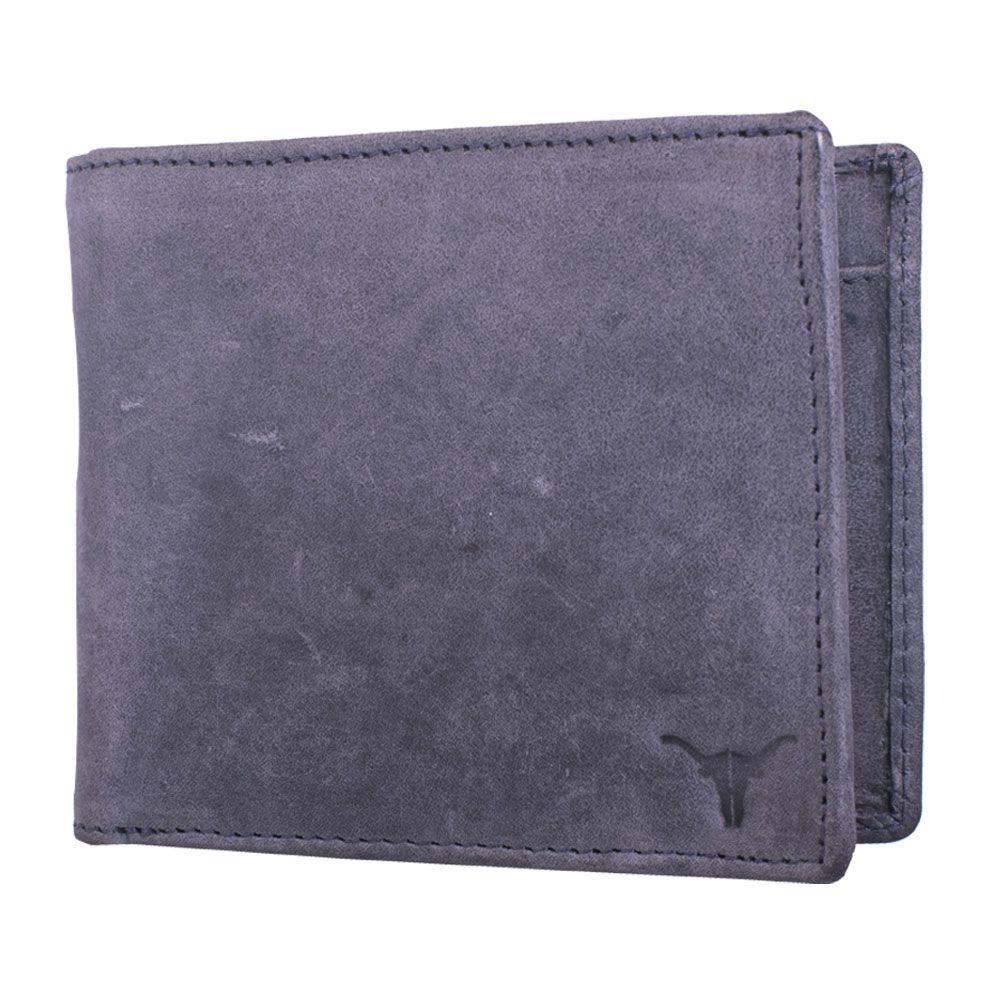 Hidekraft Men's Leather Wallet ,WLGYPU1067 Grey
