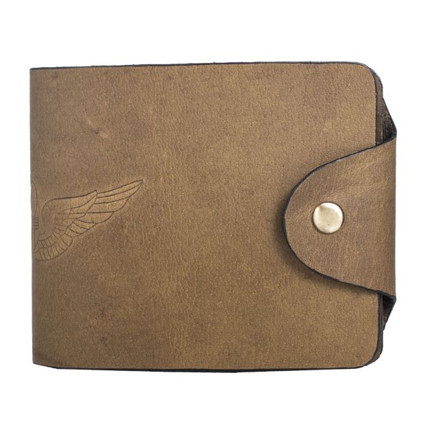Hidegear Men's Vintage Leather Biker Wallet ,WLOLDU2014H Olive