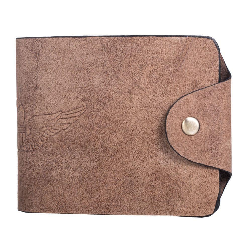 Hidegear Men's Vintage Leather Biker Wallet ,WLTNDU2014H Tan