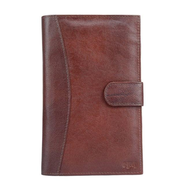 Hidemaxx Genuine Leather Travel Wallet/Passport Holder ,WLBRPU0137X Brown