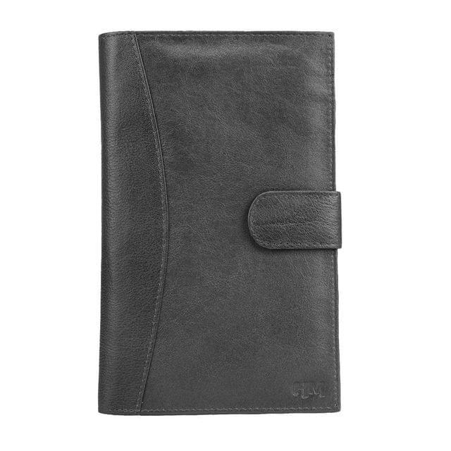 Hidemaxx Genuine Leather Travel Wallet/Passport Holder ,WLBLPU0137X Black