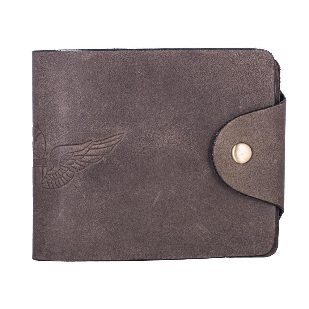 Hidegear Men's Vintage Leather Biker Wallet ,WLBRDU2013H Brown